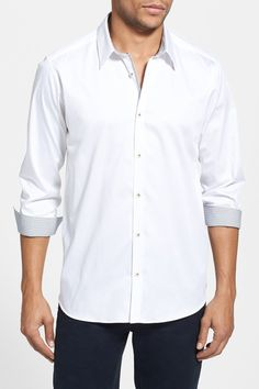 Modern Slim Fit Plancuf Stretch Long Sleeve Sport Shirt