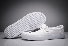 6b2220e92aa7 Scandal x Vans Slip-On White Skate Shoes  Vans Vans Slipper