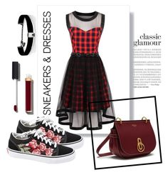 """ROSEGAL: Plaids"" by fun-me ❤ liked on Polyvore featuring Mulberry, Vans, Chanel, Kenneth Jay Lane, classic, plaid, sneakers and rosegal"