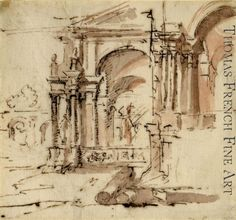 Architectural Sketch by After Francesco Guardi