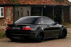 BMW E46 M3 black widebody