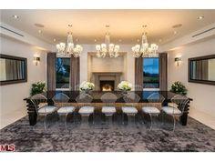 A formal dining room for twenty