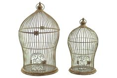 Brown Home Accents Bird Cage Storage (Set of 2) View 2