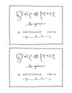 grace & peace ... free download