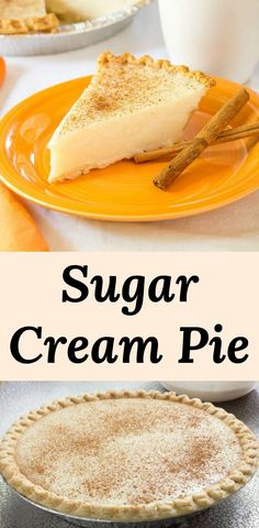 Sugar Cream Pie Foolproof Sugar Cream Pie Recipe for a sweet pie made with simple ingredients, milk, butter, sugar, vanilla and cornstarch. Perfect for beginners since it is sure to set-up. We call this one no-fail. Sweet Cream Pie, Best Coconut Cream Pie, Sweet Pie, Sugar Cream Pie Recipe, Cream Pie Recipes, Vanilla Pie Recipes, Vanilla Sweet Cream Recipe, Tart Recipes, Blueberry Cream Pies