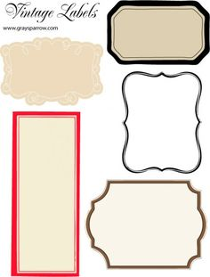 FREE: A sheet of blank printable vintage labels repinned by urban wellness:www.urbanwellnesscounseling.com