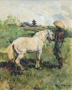 Willem Dooijewaard - Balinees met een Paard (1932)