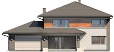 Elewacja TP Kleo CE House Paint Exterior, House Floor Plans, Home Fashion, House Painting, Homesteading, Cool Designs, Sweet Home, Shed, Outdoor Structures