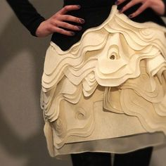 Textured Skirt - pattern repeat, layers and contours - wearable art; decorative fashion details