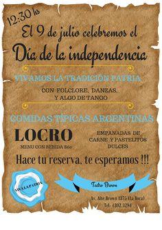CINE TEATRO BROWN: 9 DE JULIO DIA DE LA INDEPENDENCIA !