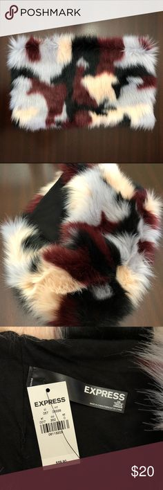 Faux Fur Snood Scarf EXPRESS never worn faux fur snood scarf. Express Accessories Scarves & Wraps