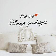 Always Kiss Me Goodnight Wall Sticker - DKK kr. 121