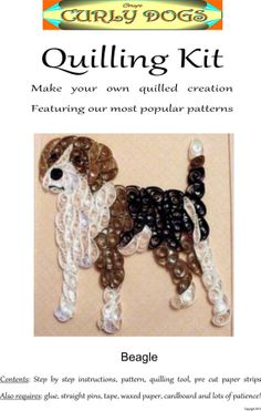 Beagle Encañonado Kit - crea tu propia CurlyDog
