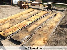 Boomstam bladen voor een boomstam tafelblad! #houtmeteenverhaal #reclaimed #wood #boomstam #boomstamblad #wooninspiratie