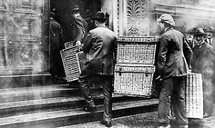 Workers in Berlin collected their payment in laundry baskets