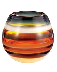 Vases: Amber Barrel