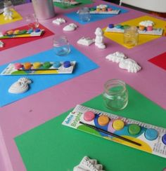 Painting Birthday Party - great ideas!