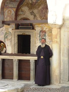 Saint JOhn's monastery at Patmos a Monk