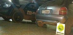 Polícia Militar através do BPFron recupera veículo roubado em Guaíra