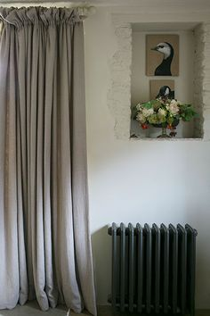 Janet Barbour Painted Interiors, creative and imaginative interior painting for your home, what I have done Curtain Inspiration, Traditional Bedroom, Window Dressings, Bedroom Layouts, Curtain Designs, Curtains With Blinds, White Bedding, Beautiful Bedrooms, Wall Colors