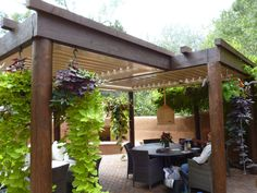 32 Creating Stunning Pergola Decorations Inspiring Ideas, These ideas you are able to try prior to making your pergola design. The ravishing pergola design functions as a home extension. An exceptional pergol. Canopy Outdoor, Outdoor Pergola, Backyard Pergola, Backyard Landscaping, Pergola Kits, Awning Patio, Pergola Ideas, Outdoor Stone, Patio Roof