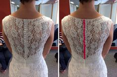 AWESOME colorful twist to your #weddingdress , change out the buttons!   See the colorful button makeover before and after