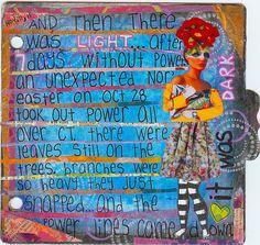 art journal ... ((love the journaling strips!))