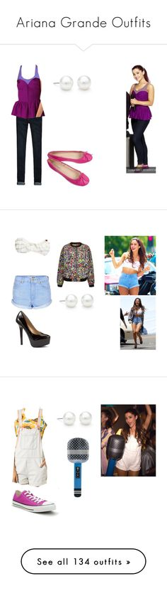 """""""Ariana Grande Outfits"""" by brainyxbat ❤ liked on Polyvore featuring ArianaGrande, ArianaGrandeoutfits, arianagrandeoutfitmatches, arianagrandevictorious, arianagrandesamandcat, American Apparel, Hollister Co., Parker, Tiffany & Co. and Juicy Couture"""