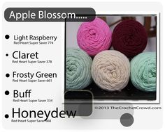 Red Heart Super Saver Color Mix: APPLE BLOSSOM
