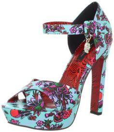 Iron Fist Women's Kokomoan Platform Sandal,Turquoise,11 M US
