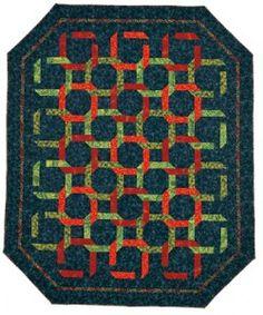 The original Linkin' Logs quilt designed by June Dudley. Fabric: Robert Kaufman.