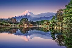 A location that I have frequented in Taranaki, is Lake Mangamahoe, a lake just outside New Plymouth. To be there when there is no breeze for a mirror like