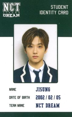 School Id, Dream School, Back To School, K Pop, Park Jisung Nct, Id Photo, Park Ji Sung, Printable Pictures, School Photos
