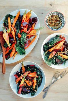 Roasted Vegetable Salad | Brooklyn Supper via @withfoodandlove