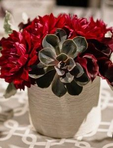 Low centerpieces with candles on mirrors. Definitely need help arranging the flowers, but this should be good for the space. Beautiful Flower Arrangements, Floral Arrangements, Beautiful Flowers, Low Centerpieces, Succulent Centerpieces, Red Wedding, Wedding Flowers, Wedding Reception, Wedding Bells