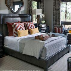 Jensen Queen Leather Bed Charcoal Ethan Allen Us