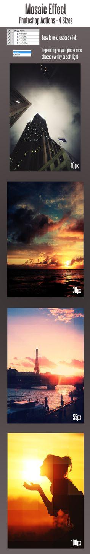Mosaic Photoshop Action #photoeffect Download: http://graphicriver.net/item/mosaic-photoshop-action/11774764?ref=ksioks