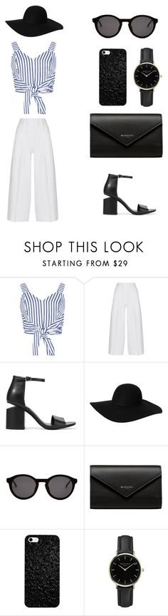 """•30•"" by laur-no ❤ liked on Polyvore featuring WithChic, Diane Von Furstenberg, Alexander Wang, Monki, Thierry Lasry, Balenciaga and ROSEFIELD"