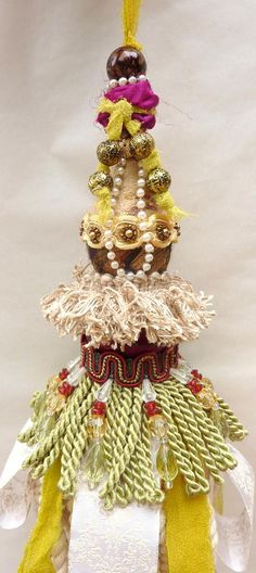 Bohemian Decorative Tassel  Cottage Chic Decor  Boho by atopdrawer, $36.00