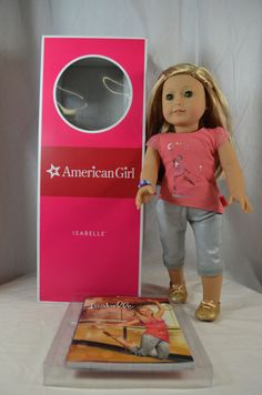 "Isabelle Palmer American Girl 18"" 18 Inch Doll Full Size In The Box 2014 GOTY #DollswithClothingAccessories"