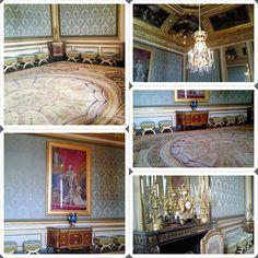 Detalhes de um dos muitos cômodo no Palácio de Versalhes