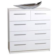 Designa 2+3 Chest of Drawers White