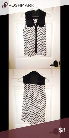 Black and Cream Shirt Black and cream shirt size small. Tops