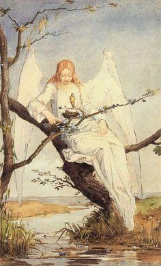 Angel                                                           Louis-Welden Hawkins is the artist