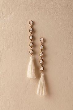 Gold Astrabel Tassel Earrings | BHLDN