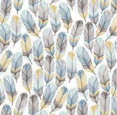 Drap de lit de bébé plume langer housse / bleu plume par Babiease