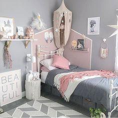 girls bedroom ideas; girls rooms; kids bedrooms; toddler bedrooms; pink and gray bedrooms
