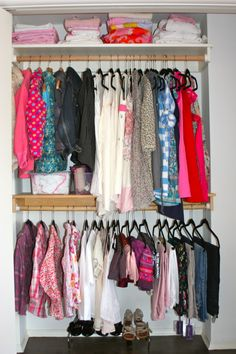 Client Project: Girl's Closet Organization // Live Simply by Annie