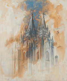 Salt Lake City Utah LDS Mormon Temple Art. Jolynn Forman  Beautiful and Unique Canvas Print for your Home or as a Gift!