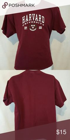 "Harvard University burgundy large tshirt Good condition. Measures 22"" across chest and 26 1/2"" Long from top mid shoulder to bottom hem Shirts Tees - Short Sleeve"